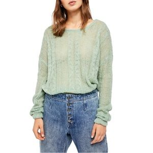 Free People NEW Light Green Pullover Sweater NWT